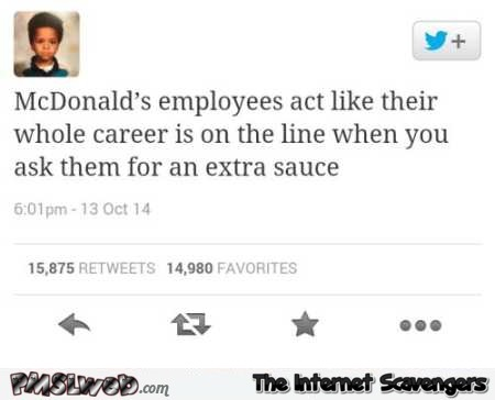 Funny McDonalds employees tweet @PMSLweb.com