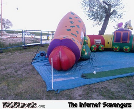 Inflatable penis slide fail – Most inappropriate toys @PMSLweb.com
