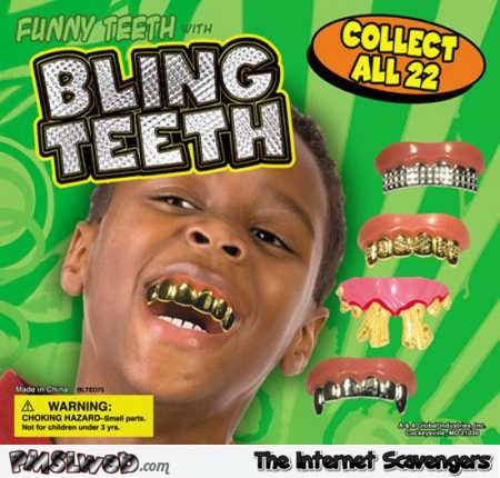 Collectible bling teeth for kids @PMSLweb.com