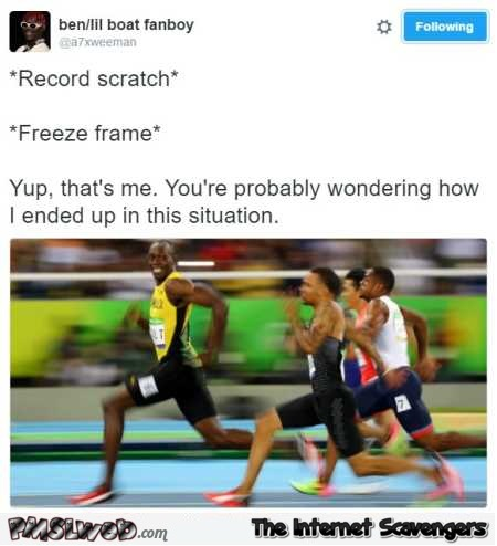 You're probably wondering how I ended up in this situation Usain Bolt humor @PMSLweb.com