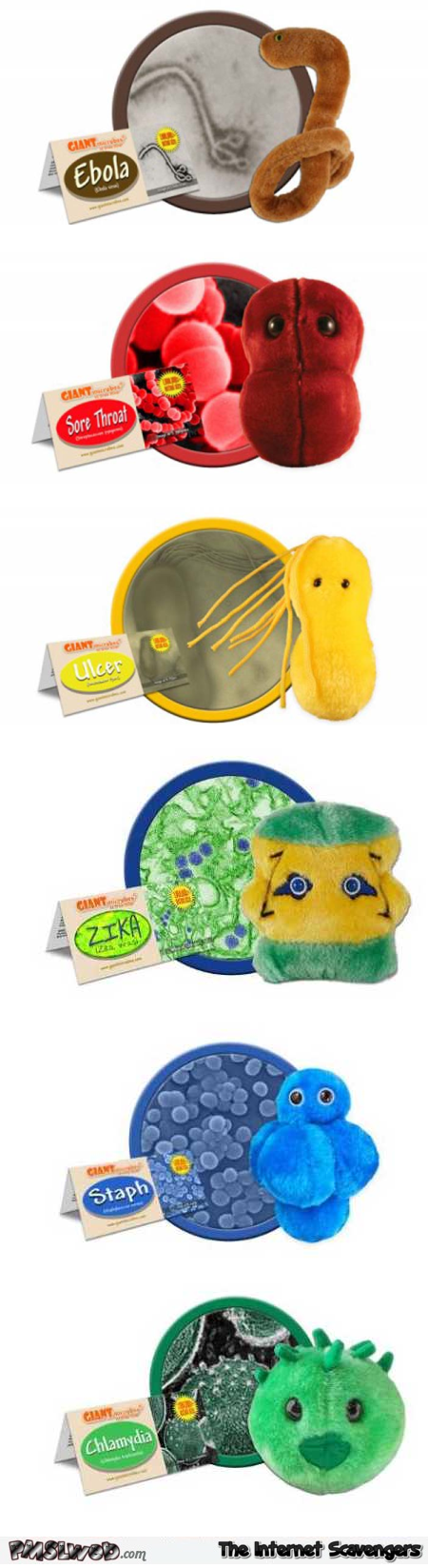 Giant Microbes funny soft toys @PMSLweb.com