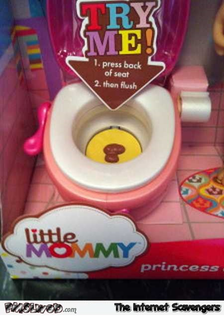 Little mommy's toy toilet weird toys @PMSLweb.com