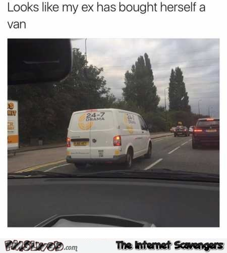 My ex bought herself a van funny meme @PMSLweb.com