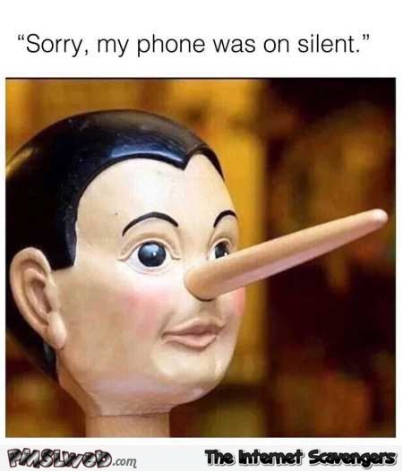 Sorry, my phone was on silent funny meme @PMSLweb.com