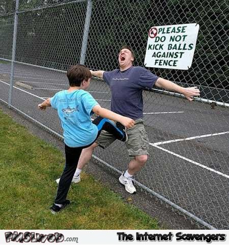 Do not kick balls against fence humor @PMSLweb.com