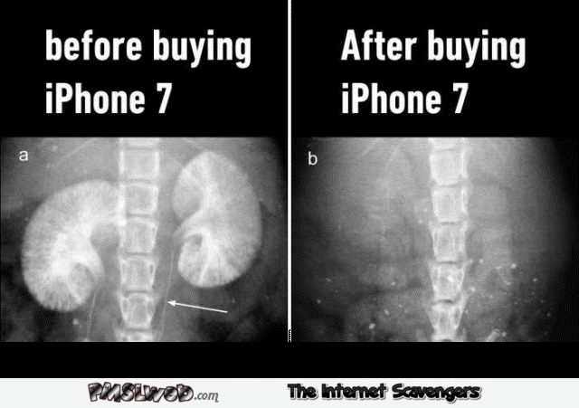 Funny before iPhone 7 and after @PMSLweb.com