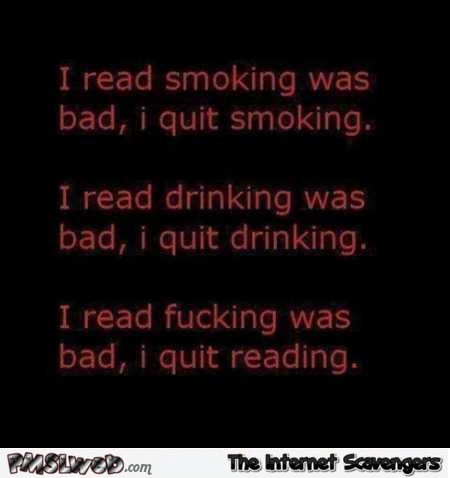 I quit reading funny quote @PMSLweb.com
