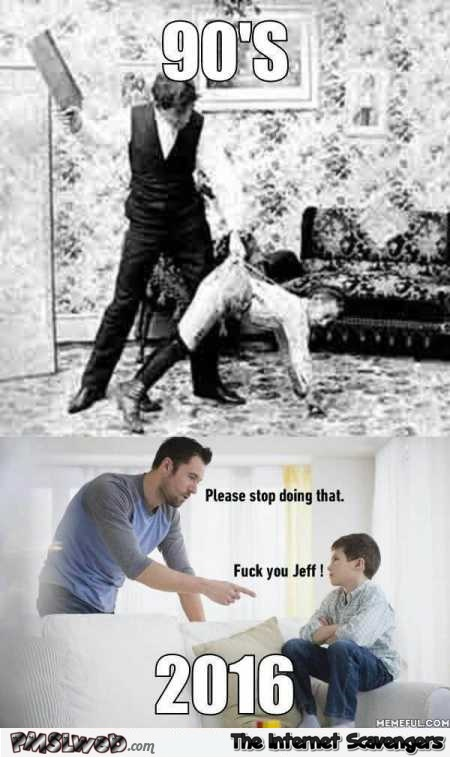 Kids before versus now funny meme @PMSLweb.com