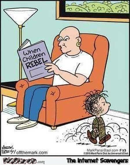 Mr Clean has a rebellious child funny cartoon @PMSLweb.com