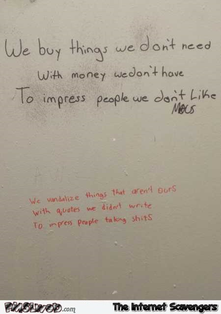 Writing on toilet walls humor