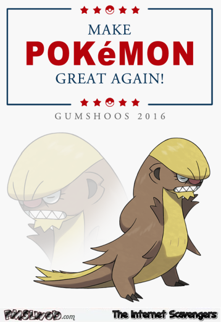 Make Pokemon great again humor @PMSLweb.com