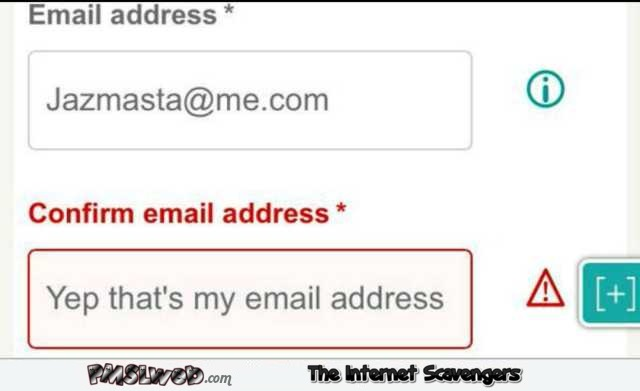Confirm your email address humor @PMSLweb.com