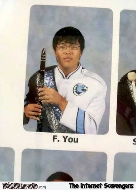 Best Asian name ever yearbook humor @PMSLweb.com