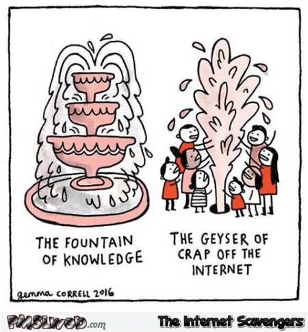 The geyser of crap off the Internet funny cartoon @PMSLweb.com