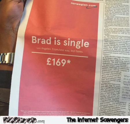 Brad is single funny advertising win @PMSLweb.com