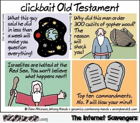 Clickbait old testament funny cartoon @PMSLweb.com