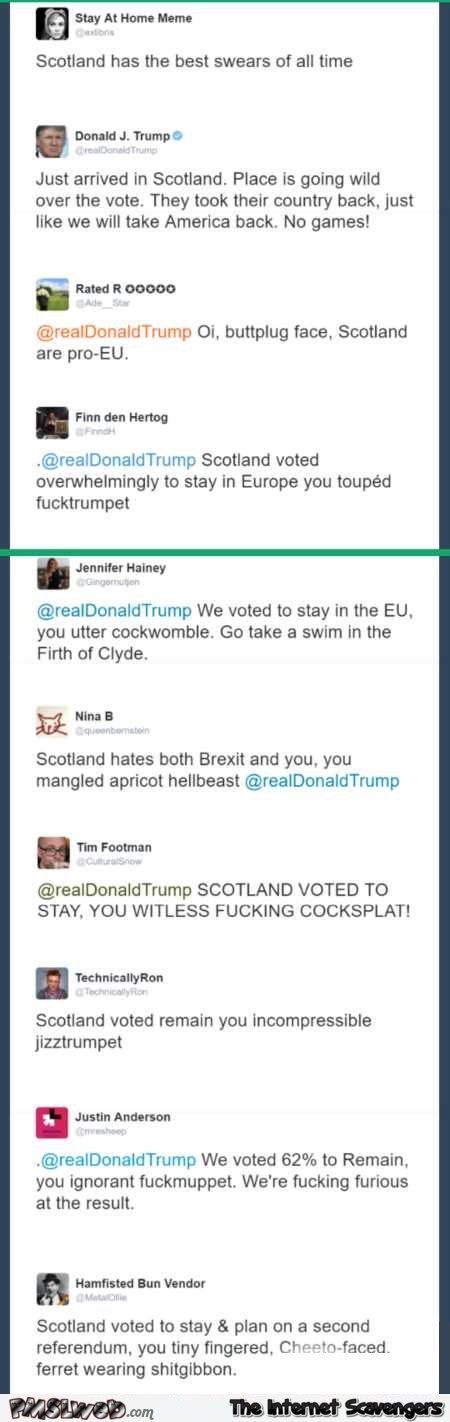 Scotland has the best swears of all time Trump humor @PMSLweb.com