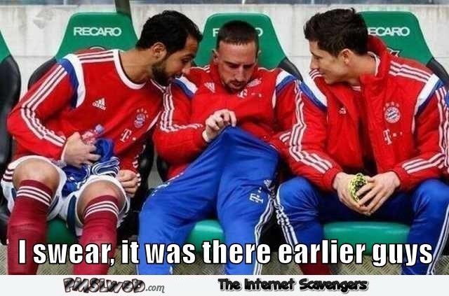 Ribery has lost his manhood funny meme @PMSLweb.com