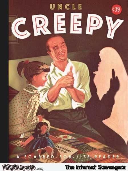 Funny Uncle Creepy book cover @PMSLweb.com