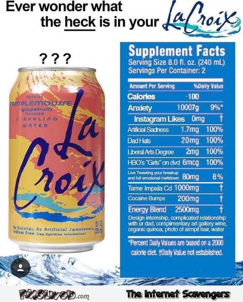 What is in your LaCroix humor