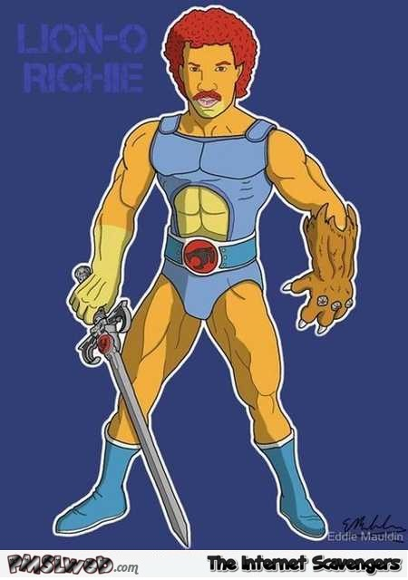 Lion-O-Richie funny cartoon