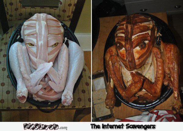 Awesome scary poultry sculpture – Hilarious Halloween pictures @PMSLweb.com