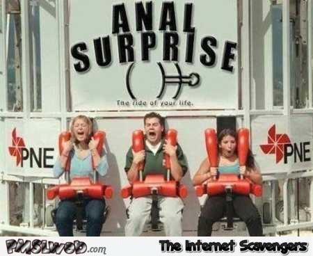 Anal surprise funny plunge ride @PMSLweb.com