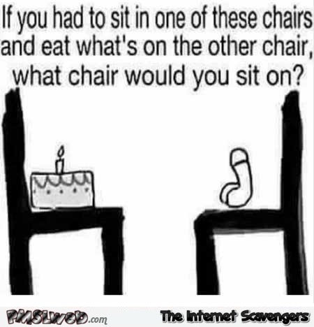 If you had to sit on one of these chairs adult humor – Monday LOL time @PMSLweb.com