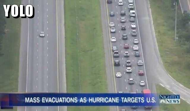 Funny hurricane mass evacuation meme – Funny Friday picture dump @PMSLweb.com