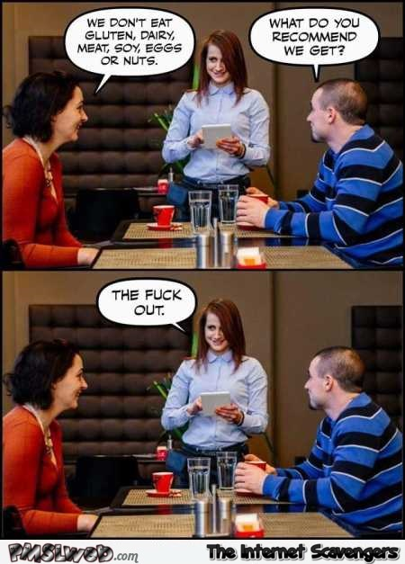 Meal suggestion at the restaurant sarcastic humor – Funny Wednesday picture dump @PMSLweb.com