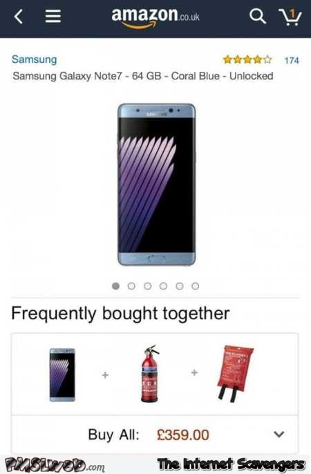 Frequently bought together on Amazon Samsung galaxy humor @PMSLweb.com