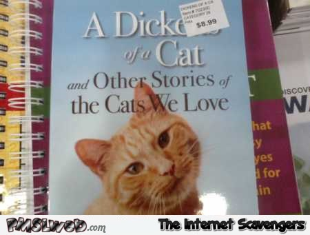 Funny cat book price sticker placement fail @PMSLweb.com