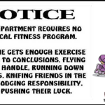 Funny notice department requires no physical fitness program @PMSLweb.com