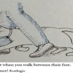 Humans love when you walk between their feet funny cat logic – Funny Hump day memes PMSLweb.com