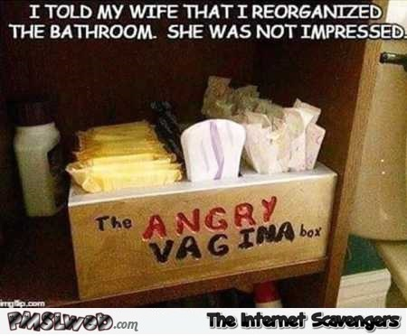 Angry vagina box funny meme – Wednesday humor zone @PMSLweb.com