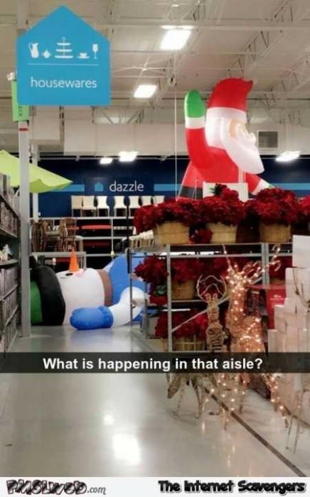 What is happening in this aisle funny Christmas fail
