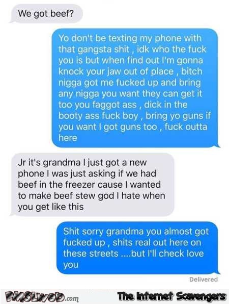 Funny texting back to grandma fail @PMSLweb.com