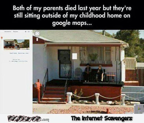 Google maps features dead parents sitting on porch