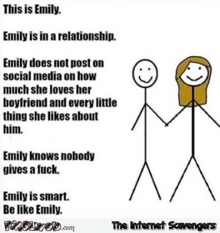 This is Emily on Facebook sarcastic humor @PMSLweb.com