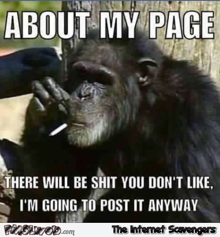 About my page sarcastic meme @PMSLweb.com
