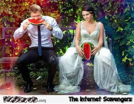 Funny suggestive wedding photo @PMSLweb.com
