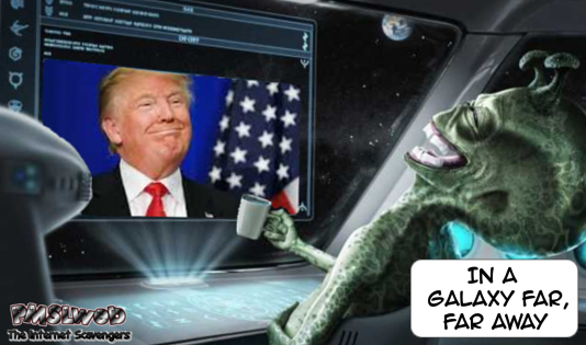 Aliens making fun of humans after US election humor @PMSLweb.com