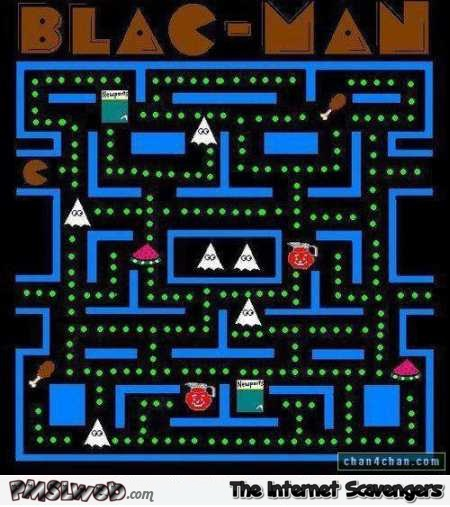 Blacman Pacman funny inappropriate parody @PMSLweb.com
