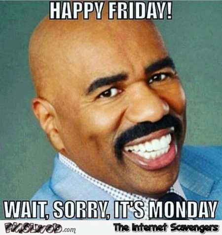 Happy Friday funny Steve Harvey fail @PMSLweb.com