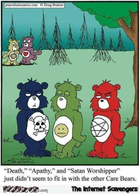 New care bears don't fit in with the others funny cartoon