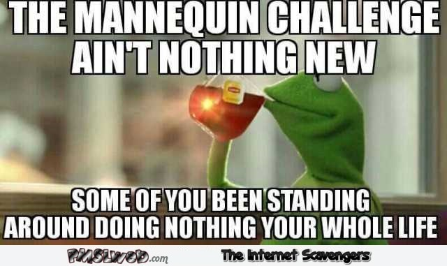The mannequin challenge ain't nothing new funny meme @PMSLweb.com