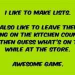 I like to make lists funny quote @PMSLweb.com