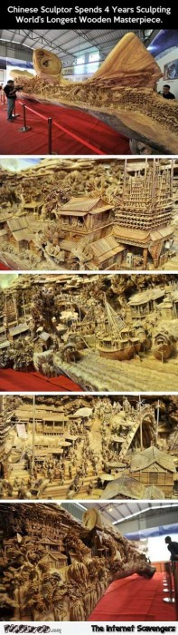 World's longest wooden masterpiece