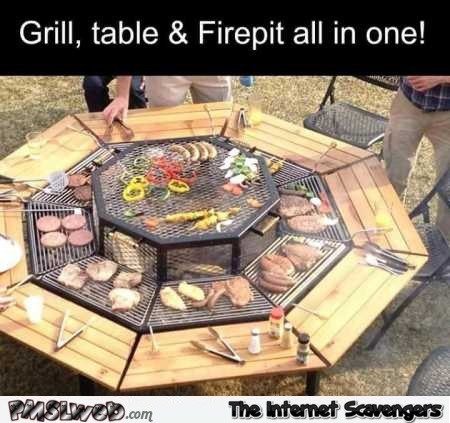 Awesome grill and fire pit table