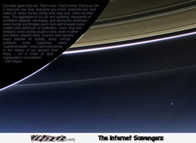 Consider again that dot Carl Sagan quote @PMSLweb.com